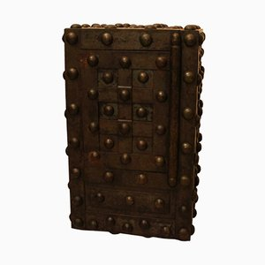 19-Century French Wrought Iron Studded Safe