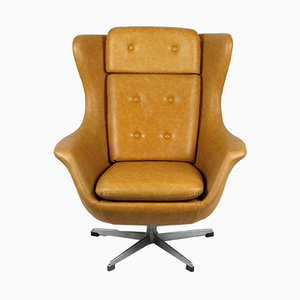 Vintage Leatherette Swivel Chair from UP Zavody Rousinov, 1970s