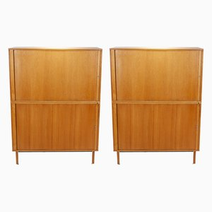 Oak Cabinets by Marius Byrialsen for Nipu, 1964, Set of 2