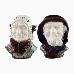 Esculturas de cerámica de Michael Andersen Ceramics para Bornholm, años 60. Juego de 2