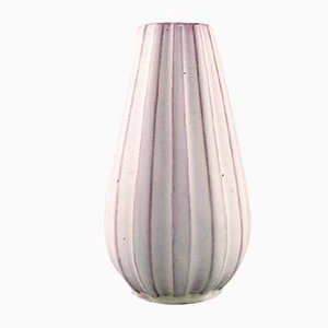 Glasierte Keramikvase von Upsala-Ekeby, 1950er