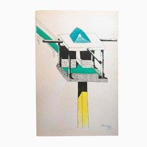 Litografia A Tower in the Desert di Ettore Sottsass, 1987