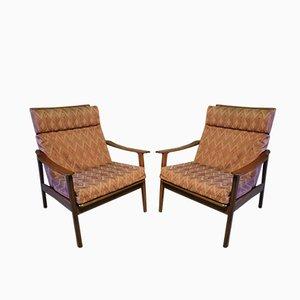 Skandinavische Mid-Century Sessel, 1960er, 2er Set