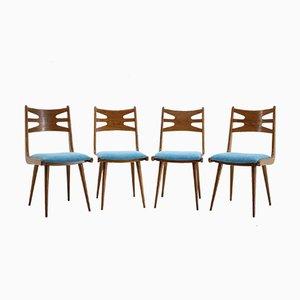 Esszimmerstühle aus Eiche, 1970er, 4er Set