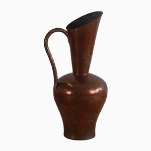 Jarrón Mid-Century grande de cobre, años 60