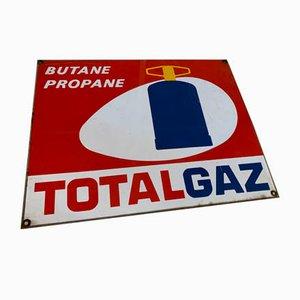 Insegna Totalgaz smaltata, anni '70