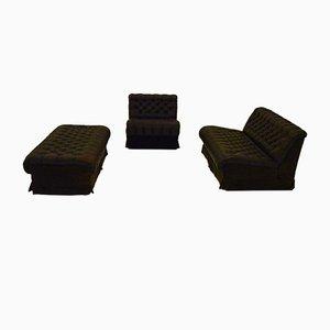 Conjunto modular de sofá y puf de Dux, años 70
