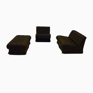 Modular Sofa and Pouf Set from Dux, 1970s