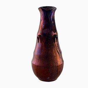 Antike glasierte Vase von Karl Hansen Reistrup für Kähler