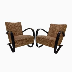 Model H-269 Armchairs by Jindřich Halabala, 1950s, Set of 2