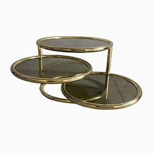 Mid-Century Modern Gilt Metal Side Table, 1970s