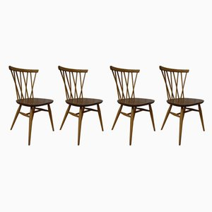 Model Candlestick Dining Chairs by Lucian Ercolani for Ercol , 1960s, Set of 4