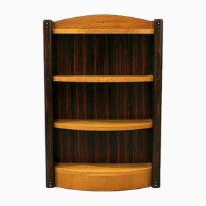 Regal Bücherregal Wandregal Mahagoni dreiteilig wie antik