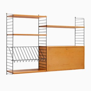 Vintage Wall Unit by Kajsa & Nils ''Nisse'' Strinning for String, 1960s