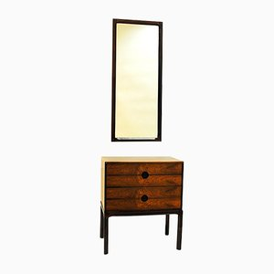 Comò in palissandro e specchio di Kai Kristiansen per Aksel Kjersgaard, Danimarca, anni '50