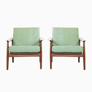 Armlehnstühle aus Teak von Arne Vodder für France & Søn / France & Daverkosen, 1960er, 2er Set