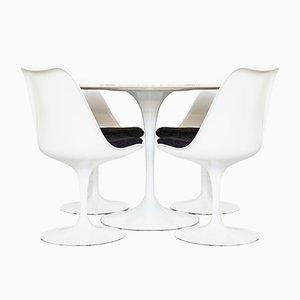 Tavolo da pranzo e sedie Tulip Mid-Century di Eero Saarinen per Knoll Inc. / Knoll International, set di 5