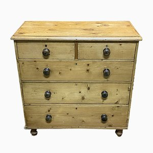 Antique English Pine Wood Dresser