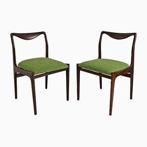 Skandinavische Beistellstühle aus Palisander, 1960er, 2er Set