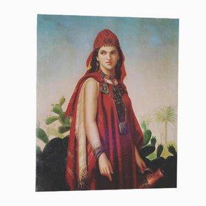 Pittura ad olio di Bernard De Souzy, anni '80