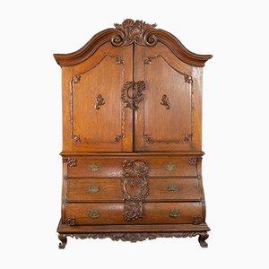 Mueble danés barroco antiguo de roble