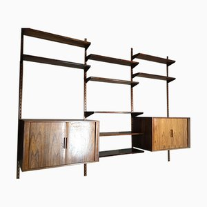 Rosewood Shelves by Kai Kristiansen for FM Møbler, 1950s, Set of 2