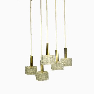 Doria Pendant Lamps from Doria Leuchten, 1960s, Set of 5