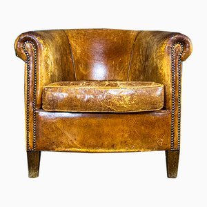 Vintage Sheep Leather Armchair