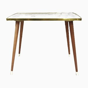 Small Vintage Ceramic Top Dining Table, 1960s