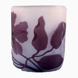 Antique Art Glass Vase by Emile Gallé