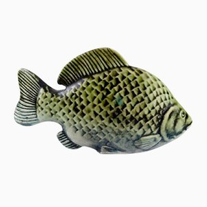 Glazed Stoneware Fish by Sven Wejsfelt, 1980s
