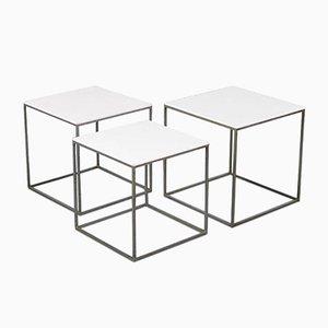 Tavolini a incastro PK 71 di Poul Kjærholm per E. Kold Christensen, anni '60