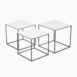 Tavolini ad incastro PK 71 di Poul Kjærholm per E. Kold Christensen, anni '60