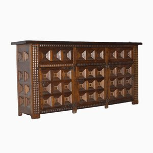 Spanish Carved Oak Sideboard from Bardulia Madrid, 1970s