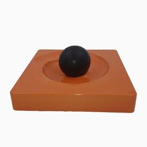 Modell Spyros Aschenbecher in Orange von Eleonore Peduzzi Riva für Artemide, 1960er