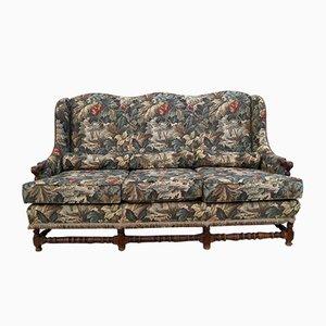 Antikes französisches Sofa mit Gestell aus Eiche