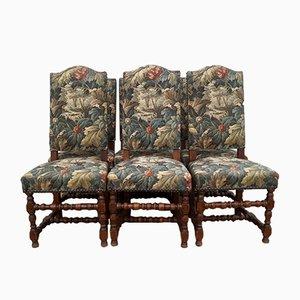 Antike Esszimmerstühle aus Eiche, 6er Set