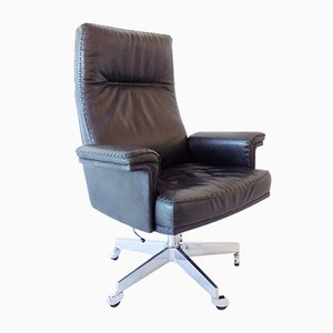 Leather Model DS 35 Swivel Chair from de Sede, 1960s