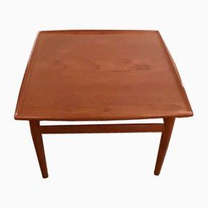 Mesa de centro vintage cuadrada de teca de Grete Jalk para Glostrup, años 60