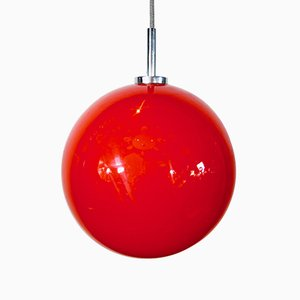 Vintage Red Model V4110 / 01 Ceiling Lamp from Hustadt Leuchten, 1970s