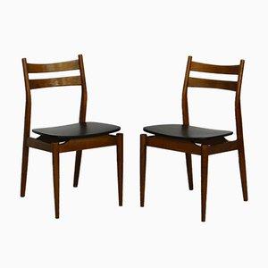 Mid-Century Esszimmerstühle aus Teak, 2er Set
