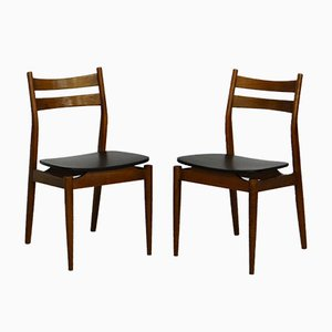 Mid-Century Teak Dining Chairs, Set of 2