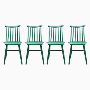 Mid-Century Esszimmerstühle aus Teak im skandinavischen Stil von Ilmari Tapiovaara für Asko, 1960er, 4er Set