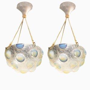 Deckenlampen von R. Lalique, 1926, 2er Set