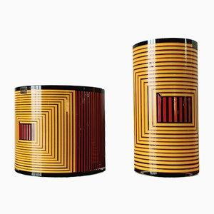 Vasen von Ettore Sottsass, 1990er, 2er Set