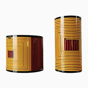 Vases by Ettore Sottsass, 1990s, Set of 2