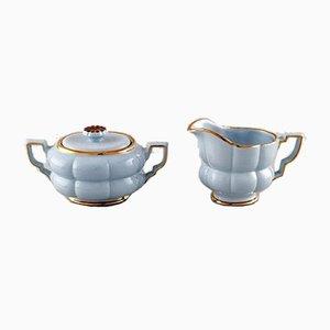 Tazas de té Art Déco de Percy para Upsala-Ekeby, años 40. Juego de 4