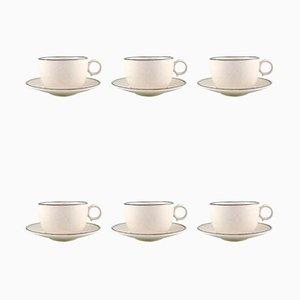 Teetassen mit Untertassen von Stig Lindberg für Gustavsberg, 1960er, 12er Set