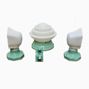 Art Deco Bathroom Lighting Set
