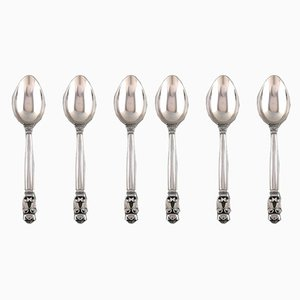 Sterling Silver Teaspoons, 1930s, Set of 6